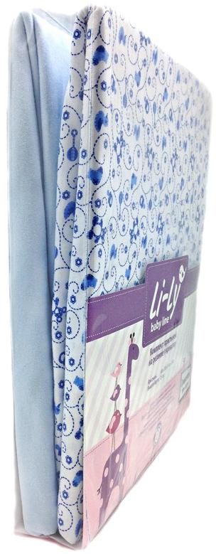 Постельные принадлежности Kupu-Kupu Комплект простыней Li-Ly на резинке 2 шт. мишки/голубой наволочки kupu kupu наволочка 2 шт