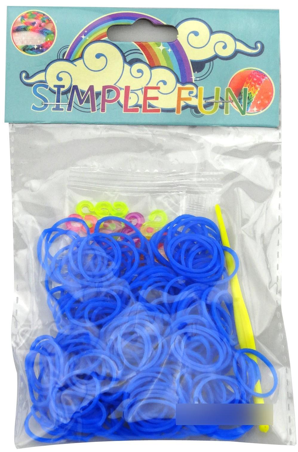 Украшения Simple Fun Набор для плетения браслетов Simple Fun «Loom» одноцветные 200 шт. белоснежка набор для плетения из резинок фантазия 5250 шт