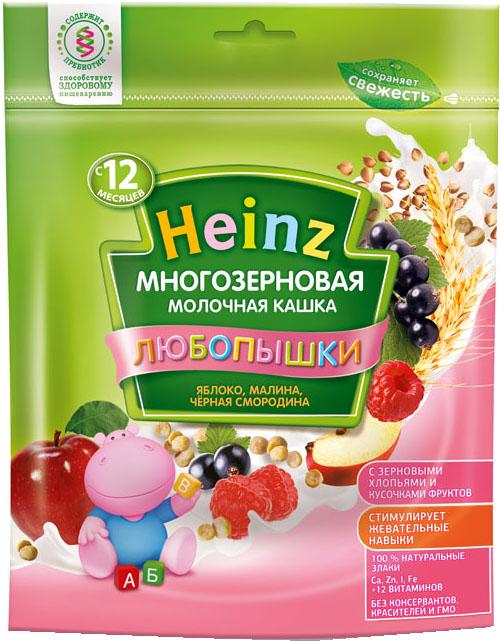 Каша Heinz Heinz Любопышки молочная многозерновая яблоко, малина, черная смородина (с 12 месяцев) 200 г heinz каша многозерновая из пяти злаков с 6 месяцев 200 г