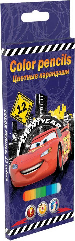 Ручки и карандаши Cars Cars 12 цветов ручки и карандаши cars набор цветных карандашей disney cars 12 шт
