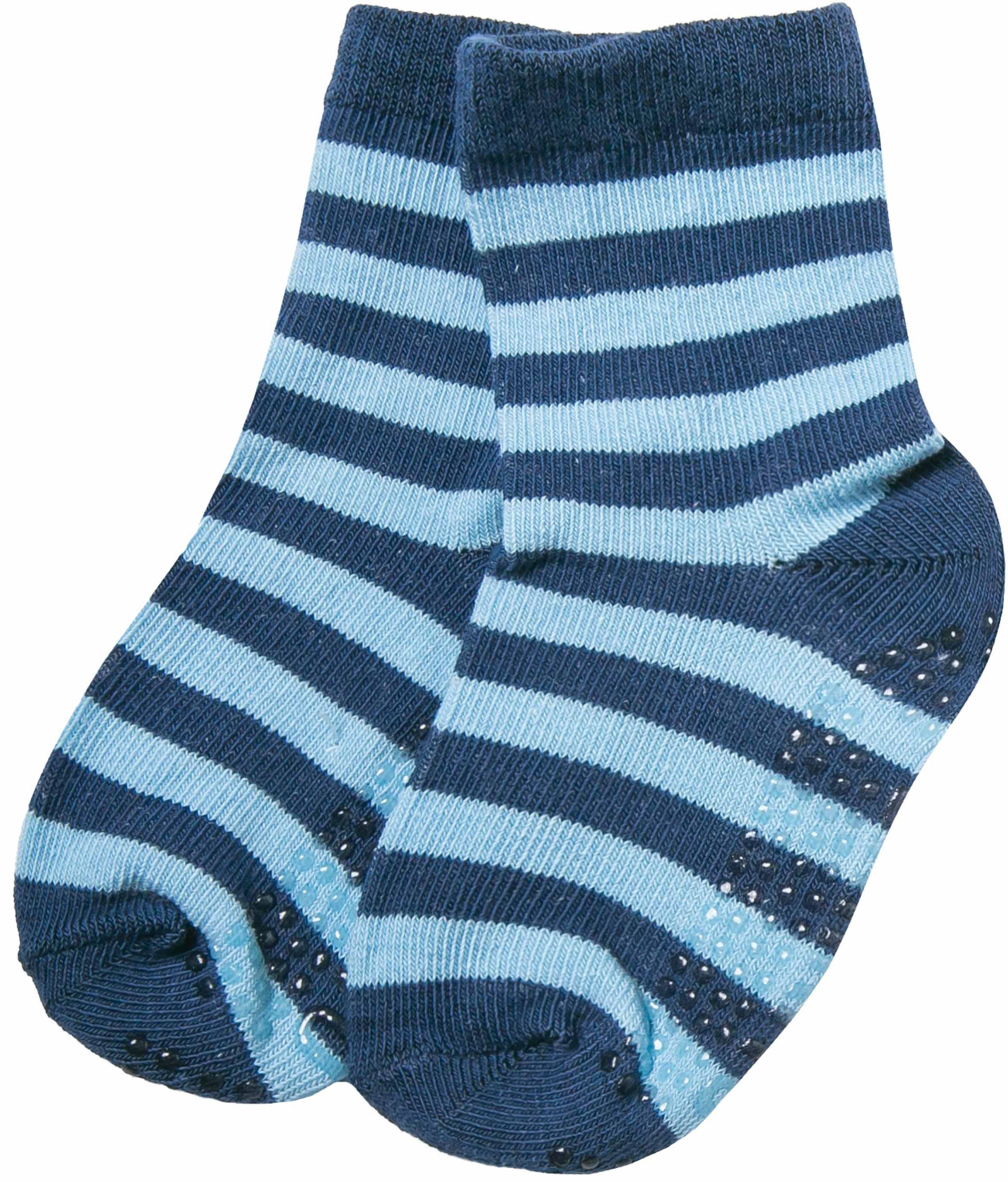 Купить Носки антискользящие для мальчика Barkito, синие с рисунком в полоску, Китай, синий с рисунком в полоску, Мужской