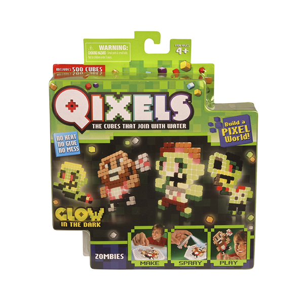 Фото - Набор для творчества Qixels Зомби игровой набор monsters university университет монстров фигурка монстра функциональная 87028m