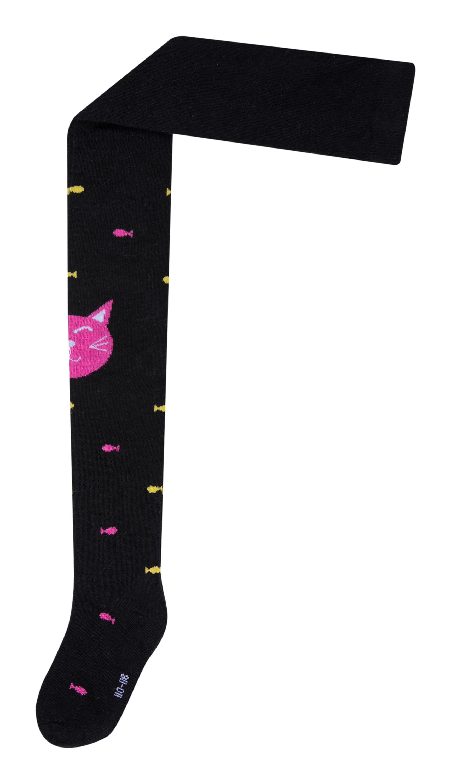 цена Колготки для девочки Barkito Черные с розовым онлайн в 2017 году