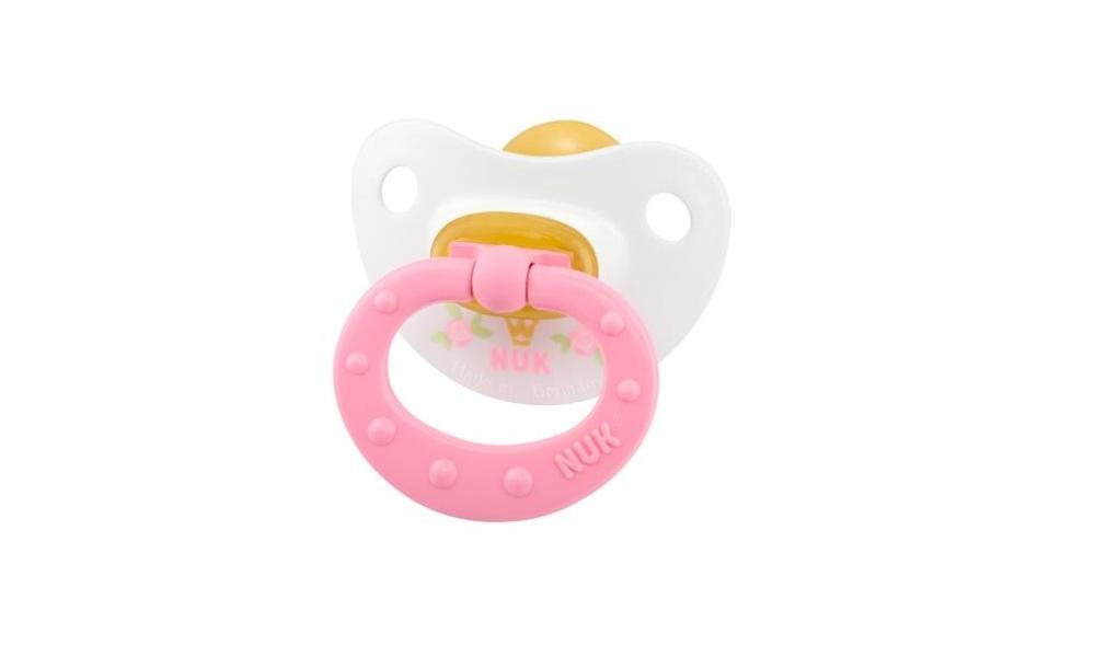 Пустышка NUK Латексная HAPPY KIDS размер 1 хэппи беби happy baby соска пустышка латексная красная арт 13016