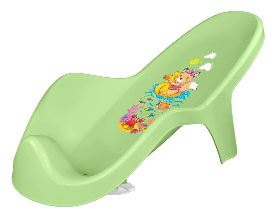 коврики для купания Горка для купания Пластишка С декором зеленая
