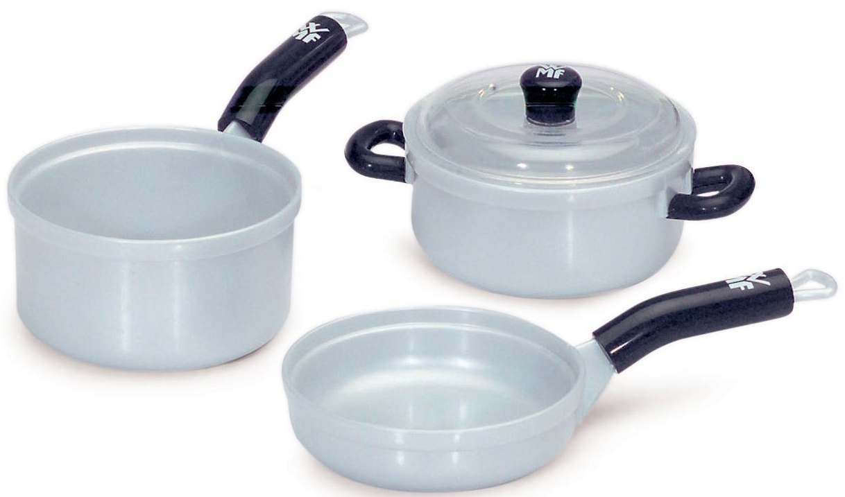 Детские кухни Klein Набор посуды (3 предмета) набор чехлов для дивана и кресел мартекс с карманами 3 предмета 05 0751 3