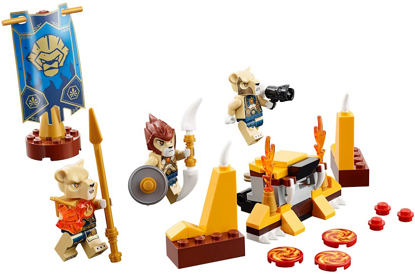 Конструктор LEGO Legends 70229 Of Chima Лагерь Клана Львов lego backpack master of fire chima child s full size black and red