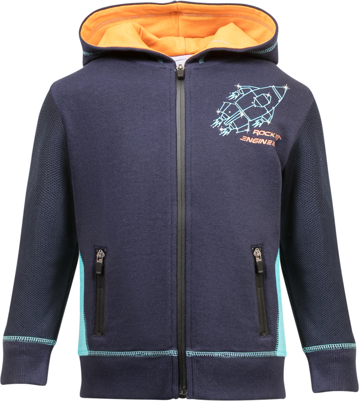 """Купить со скидкой Куртка для мальчика Barkito """"Путешествие в космос 2"""", темно-синяя"""