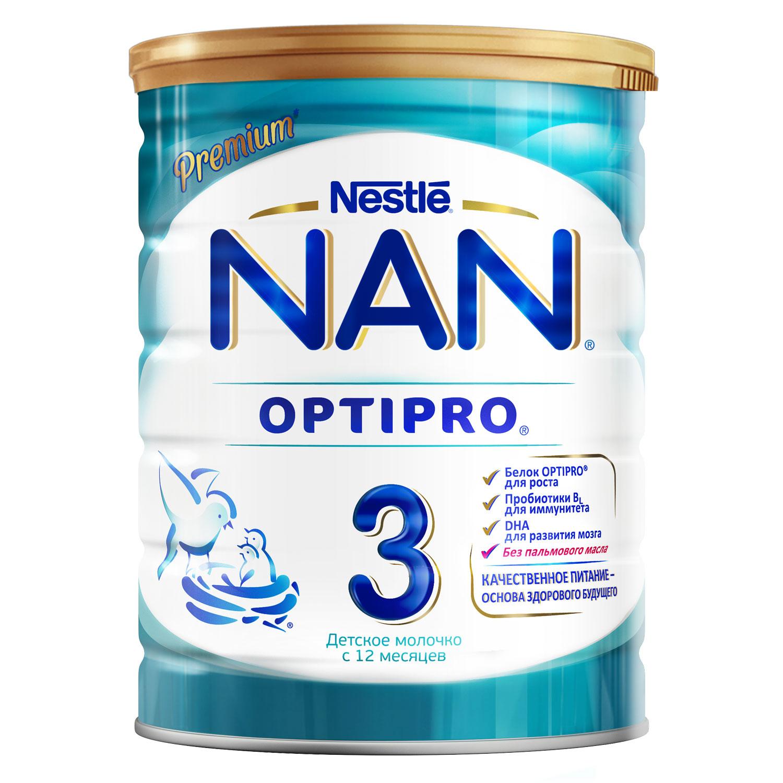 Сухие NAN NAN (Nestlé) 3 Optipro (с 12 месяцев) 800 г детское молочко nan 4 optipro с 18 мес 800 г