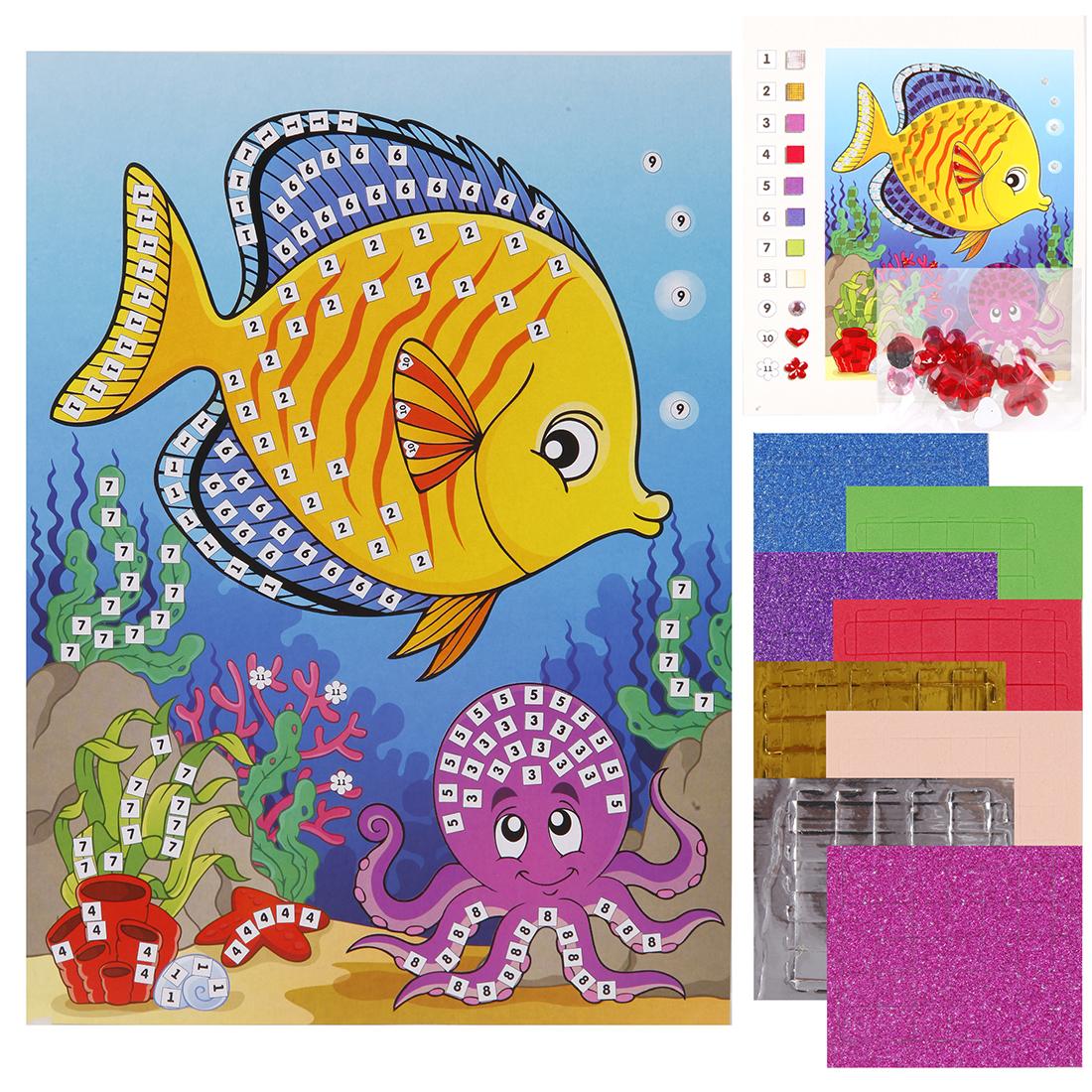 Набор для творчества Color Puppy Аппликация. Рыбка цены онлайн