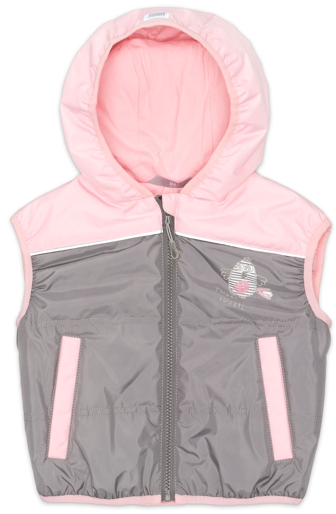 Жилеты Barkito Жилет для девочки Barkito, розово-серый акустическая система mystery mp 2005k