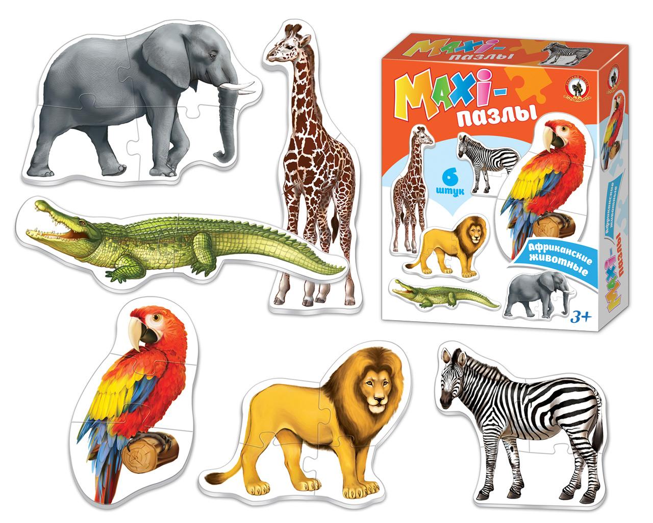 Макси-пазл Русский стиль Африканские животные