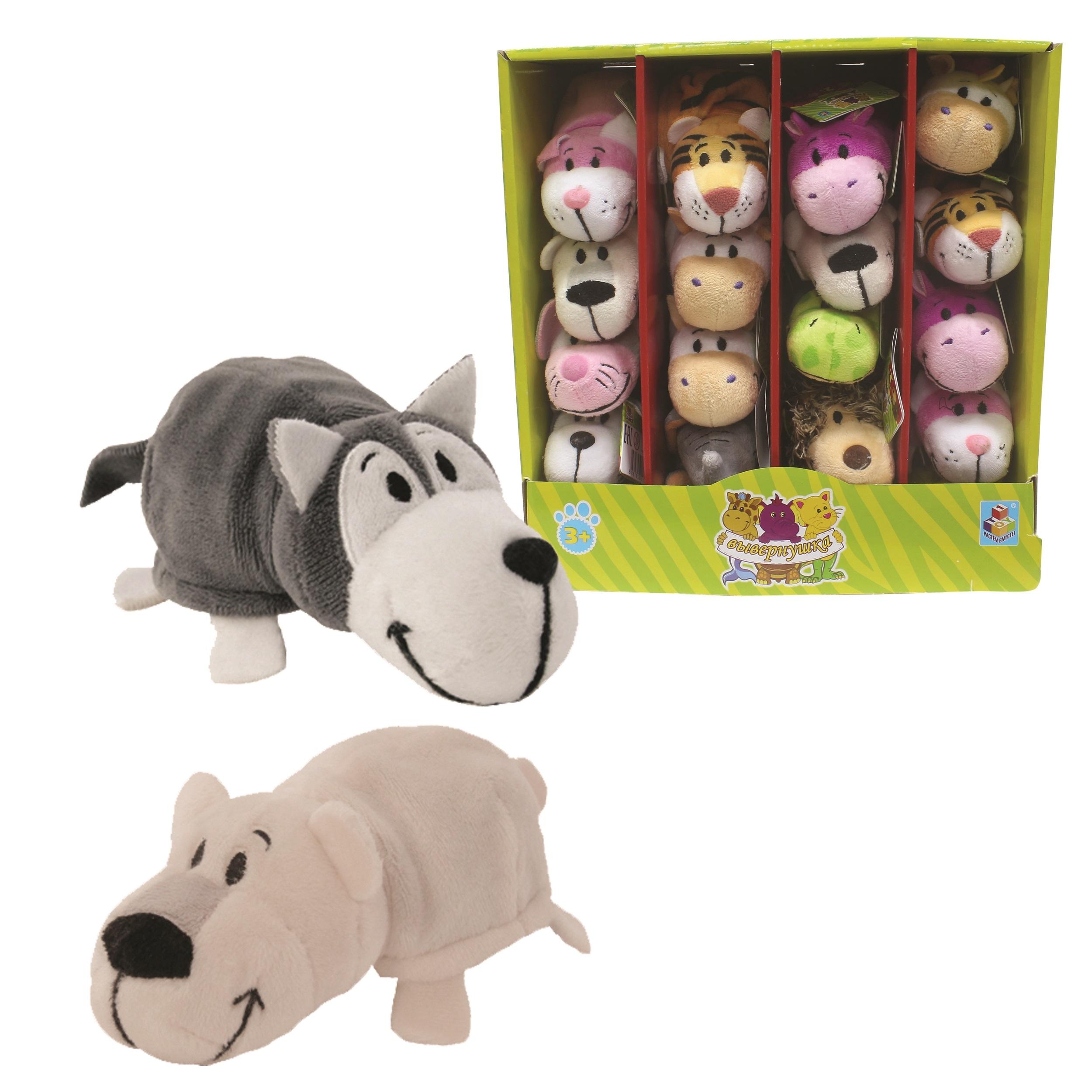 Мягкие игрушки 1toy Мягкая игрушка 1Toy «Вывернушка» 12 см в асс. игрушка 1toy robopets королевская кобра т11395