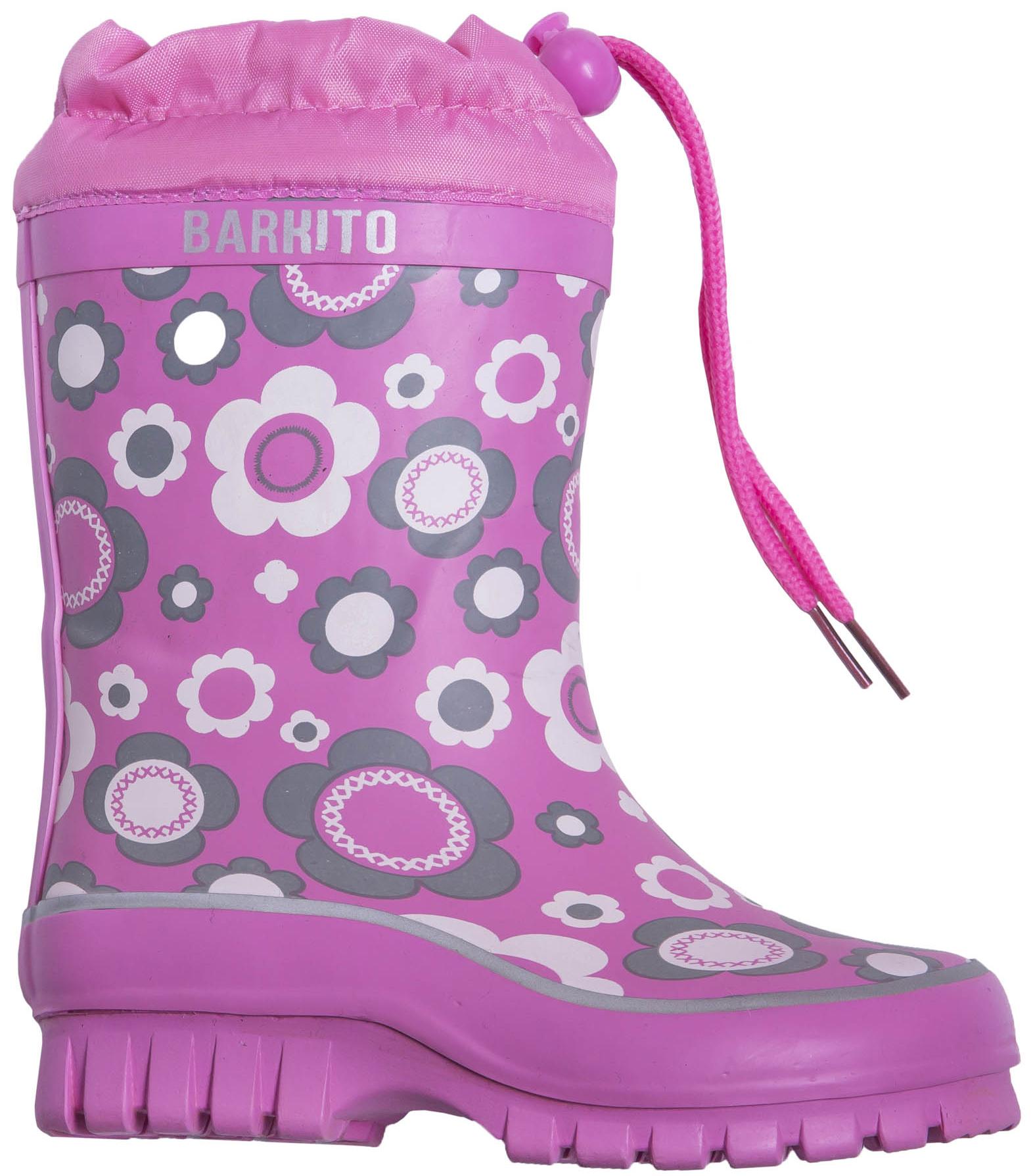 Сапоги резиновые для девочки Barkito Утепленные розовые