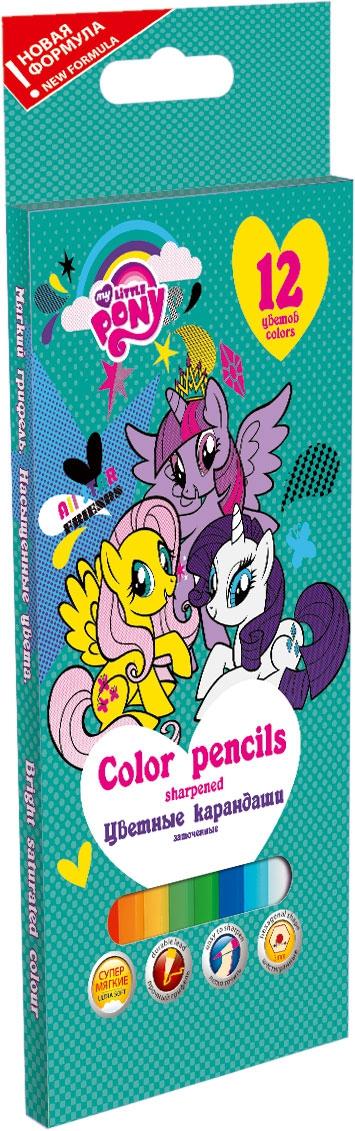 Набор цветных карандашей My Little Pony My Little Pony 12 цветов полотенце mona liza my little pony в тропиках цвет розовый 70 х 140 см