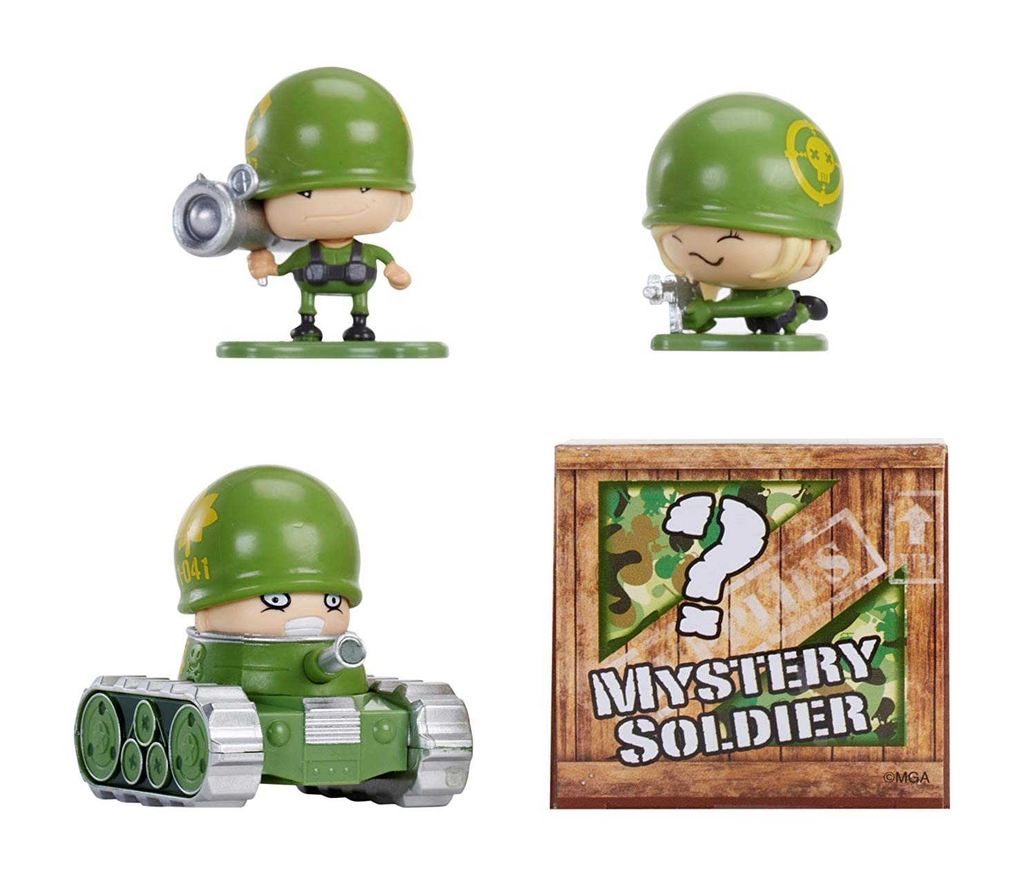 Набор из 4 фигурок MGA Entertainment Awesome Little Green