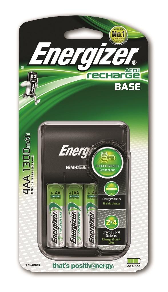 Элементы питания Energizer Зарядное устройство Energizer Accu Rechrge Base для батареек AA-ААА 4 шт. аккумуляторы 1300 mah energizer universal aa 4 шт 638590 e300322101