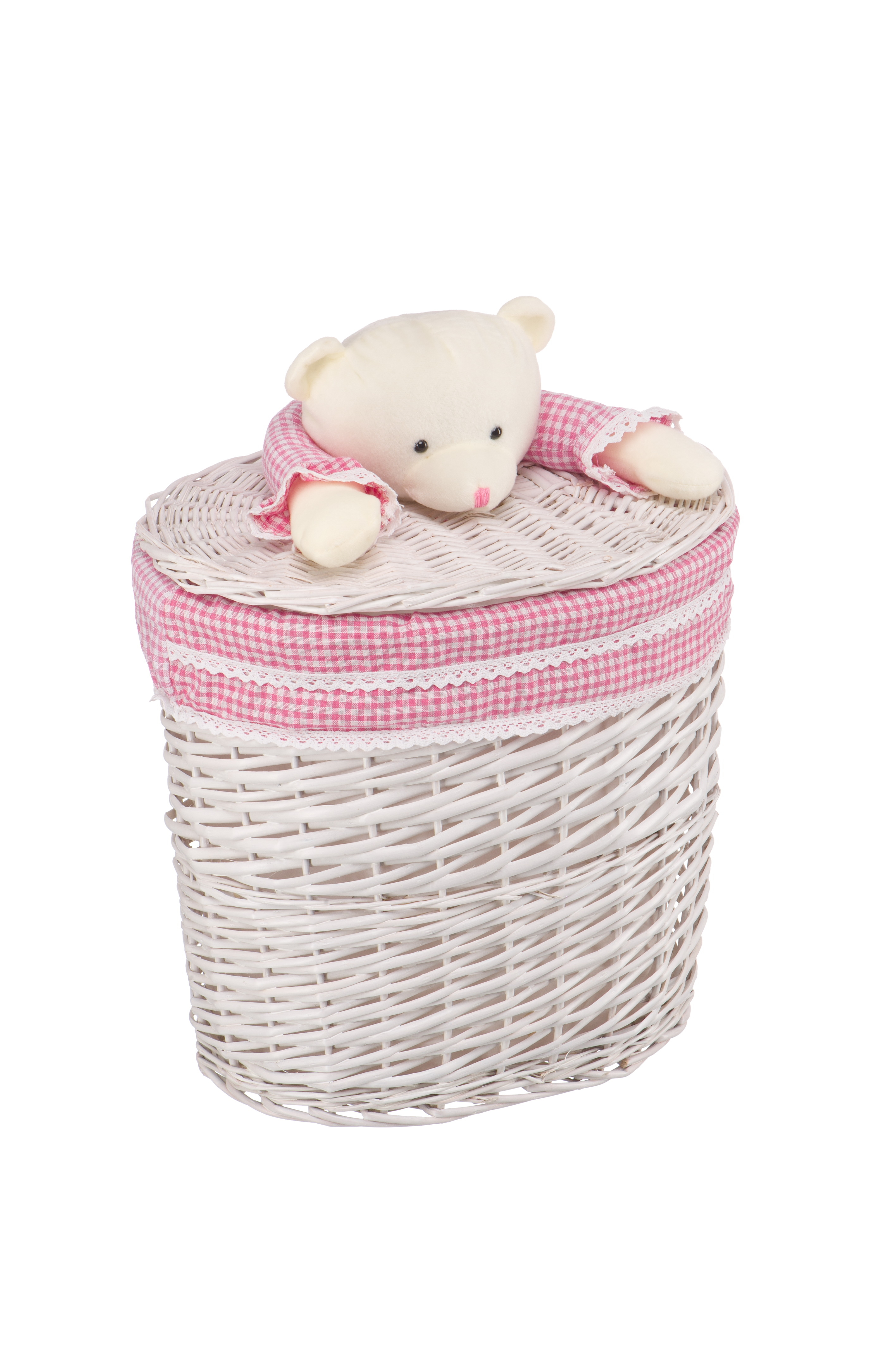 Ящики и корзины для игрушек Natural House Корзина Natural House «Медвежонок розовый» ива M молочный teak house корзина для белья bubble
