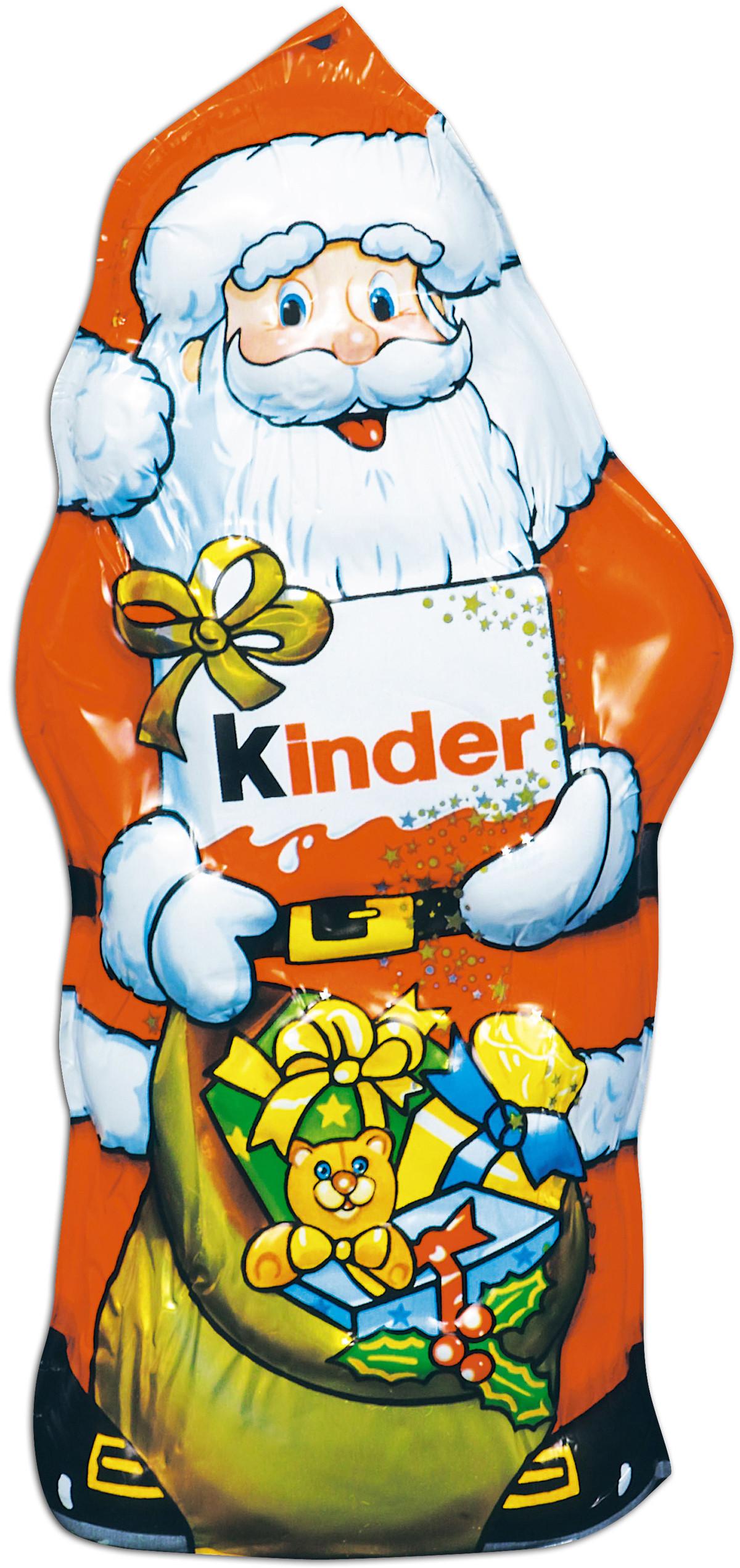 Десерты Kinder Kinder «Дед Мороз» молочный фигурный 110 г коркунов ассорти конфеты молочный шоколад 110 г