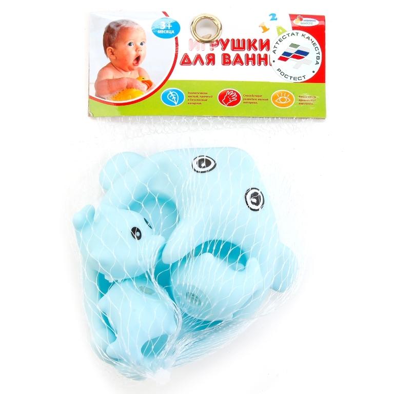 Игрушки для ванны Играем вместе Дельфины наклейка для интерьера дельфины