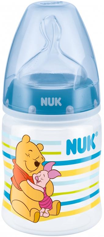 Бутылочка NUK с силиконовой соской First Choice Plus с рождения 150 мл бутылочка для кормления nuk first choice plus с силиконовой соской м 0 150 мл в ассортименте