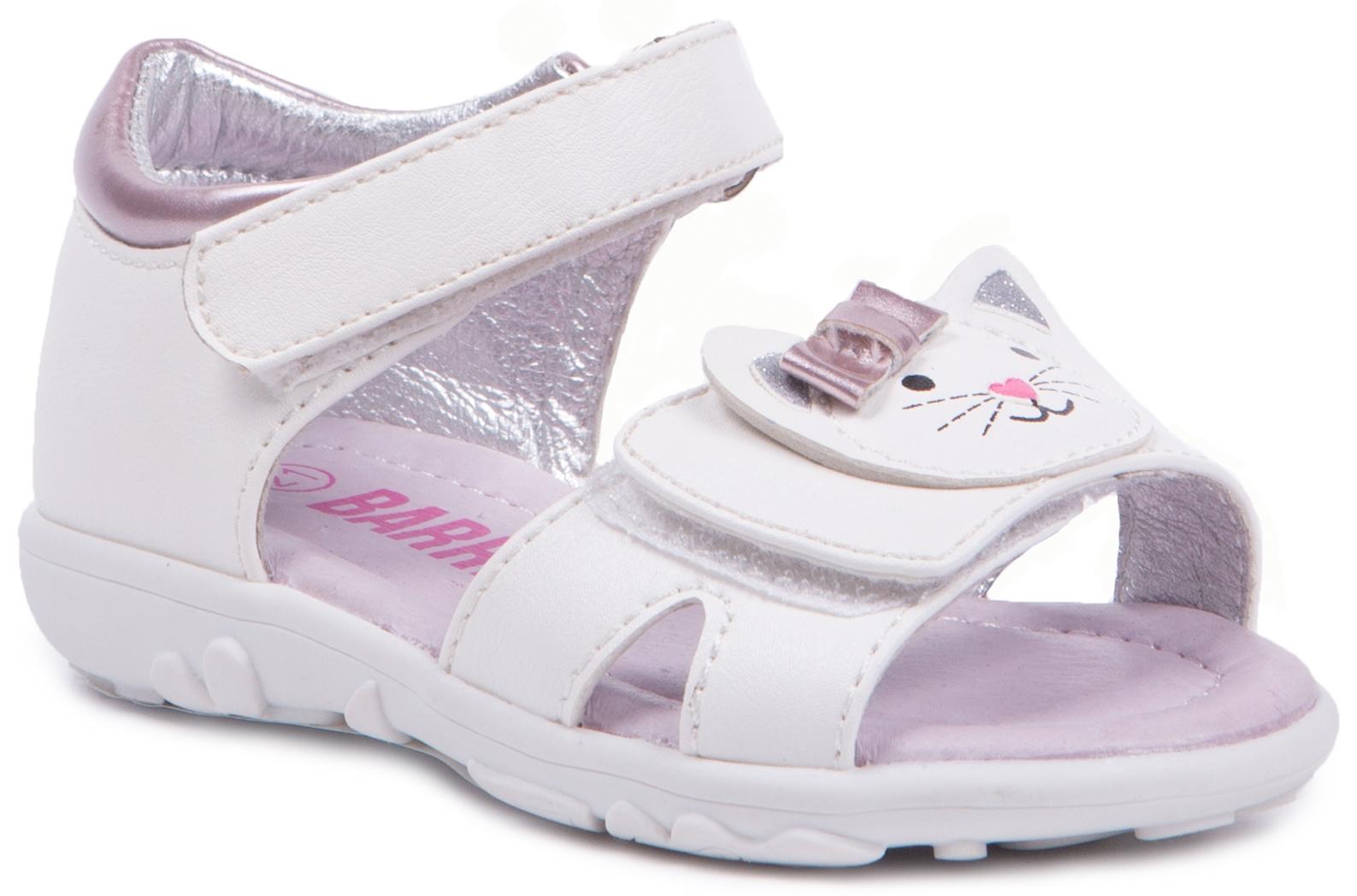 Босоножки Barkito Туфли летние для девочки Barkito, белые цена и фото