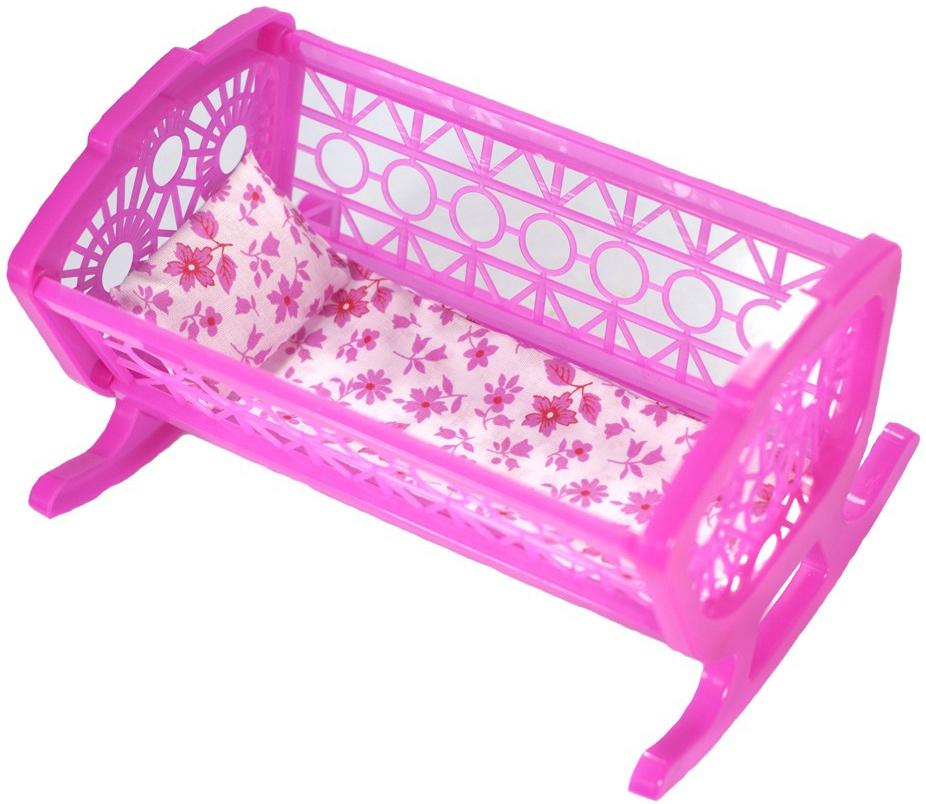 Другие куклы Just Cool Кроватка для куклы Just Cool розовая игровые наборы профессия just cool игровой набор just cool кассовый аппарат
