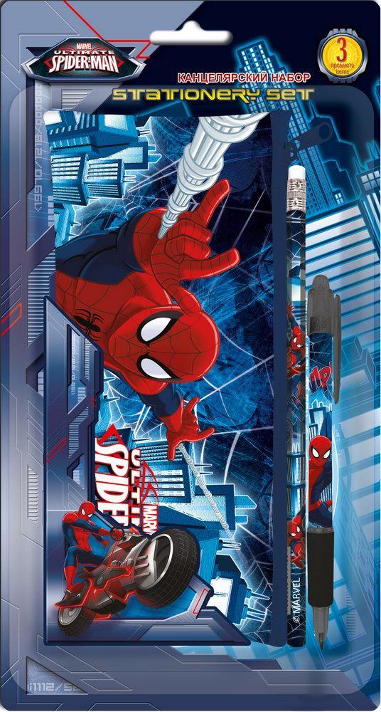 Пеналы и наборы Spider-man Набор канцелярский Spider-Man 3 пр. набор канцелярскийspider man classic