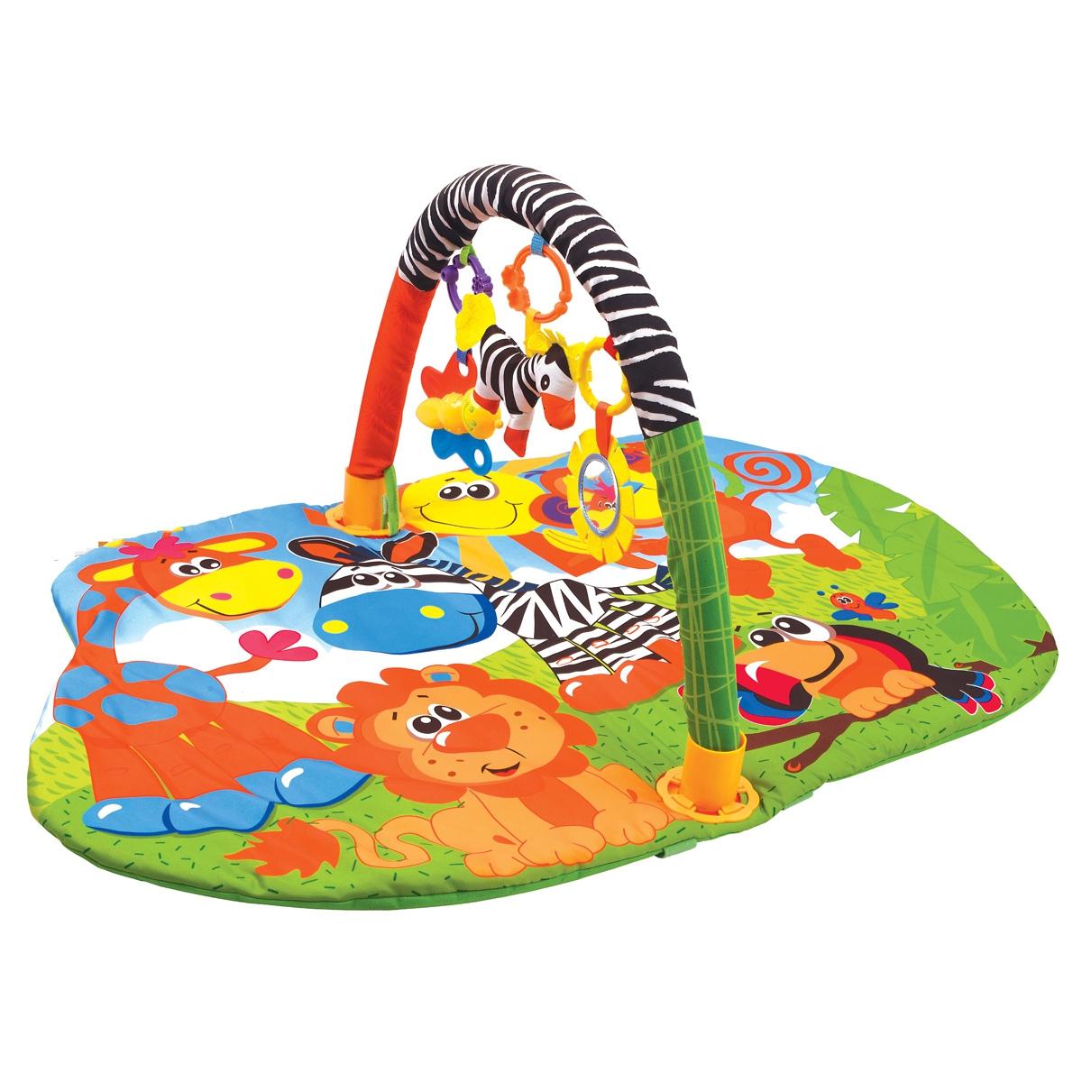 Купить Развивающий коврик, Веселый зоопарк, 1шт., Ути Пути 49388, Китай, Мультиколор