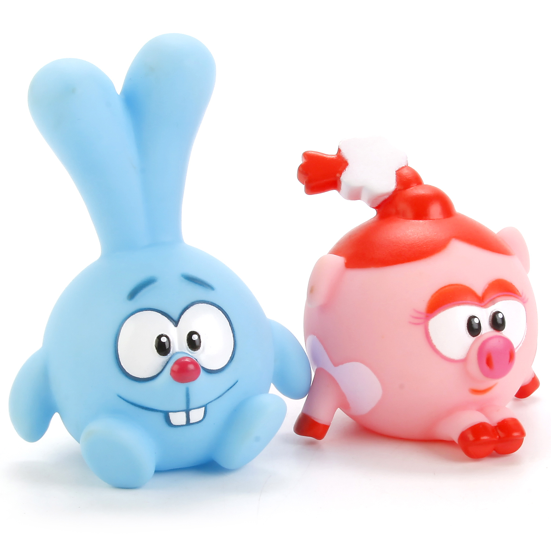 цена Набор игрушек для ванны Играем вместе Смешарики: Крош и Нюша онлайн в 2017 году