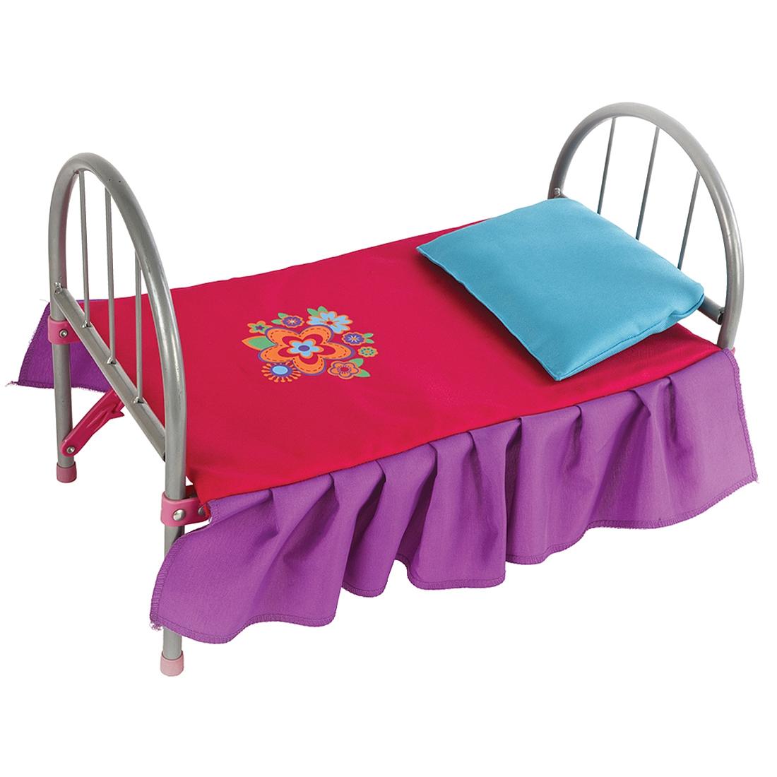 Аксессуары Mary Poppins Кроватка для куклы Цветочек металлическая