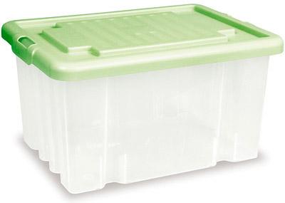 Ящики и корзины для игрушек Дарел с крышкой зеленый 18 л