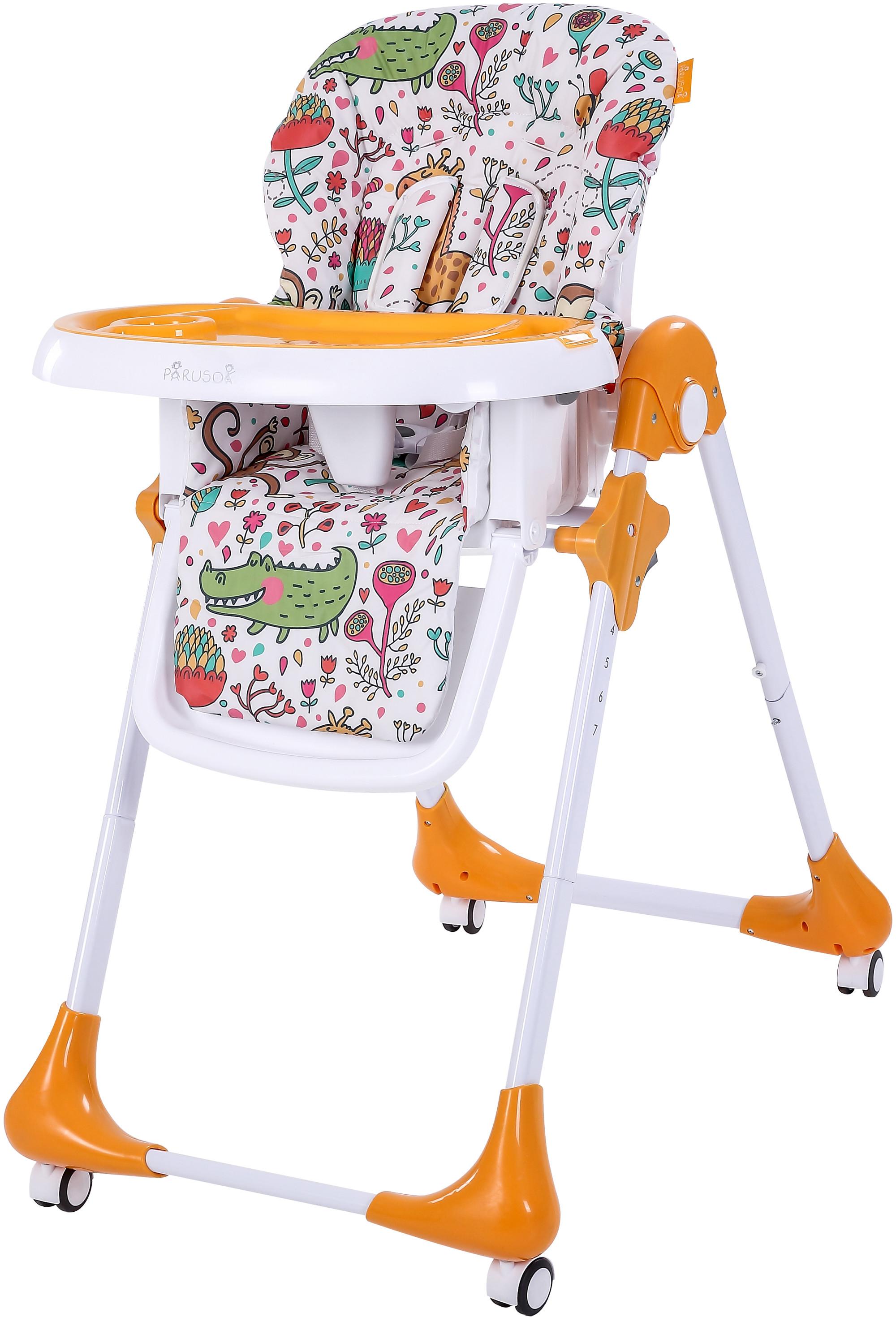 Стульчики для кормления Parusok Стульчик для кормления Parusok «Light» цвет оранжевый стульчик для кормления barty babys лакированный froggy