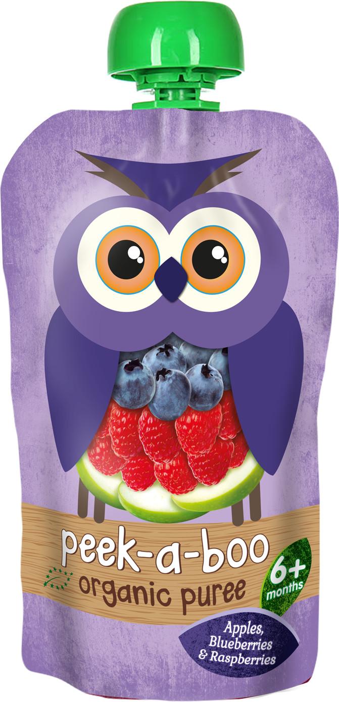 Пюре Peek-a-boo Peek-a-boo Яблоко малина черника (с 6 месяцев) 113 г фруктовое peek a boo peek a boo яблоко с 4 месяцев 113 г