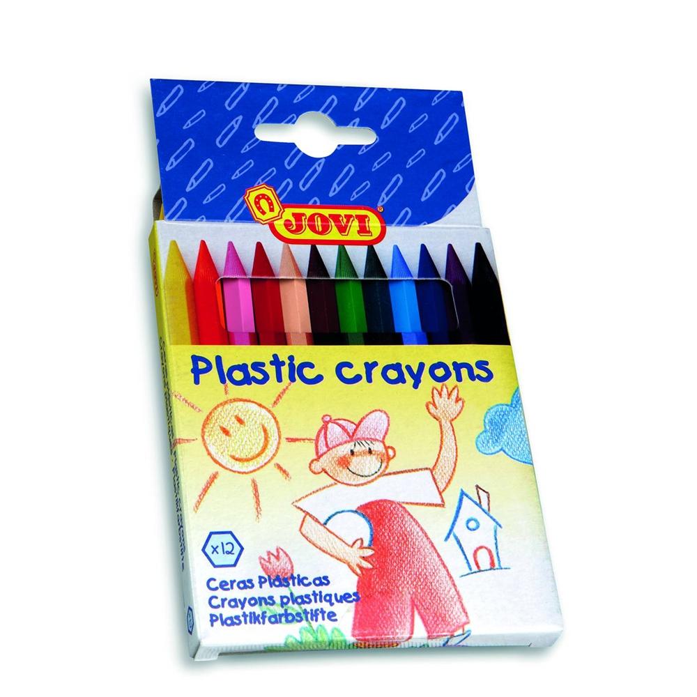 Цветные карандаши Jovi Пластиковые 12 цветов карандаши jovi восковые с точилкой и ластиком 12 цветов