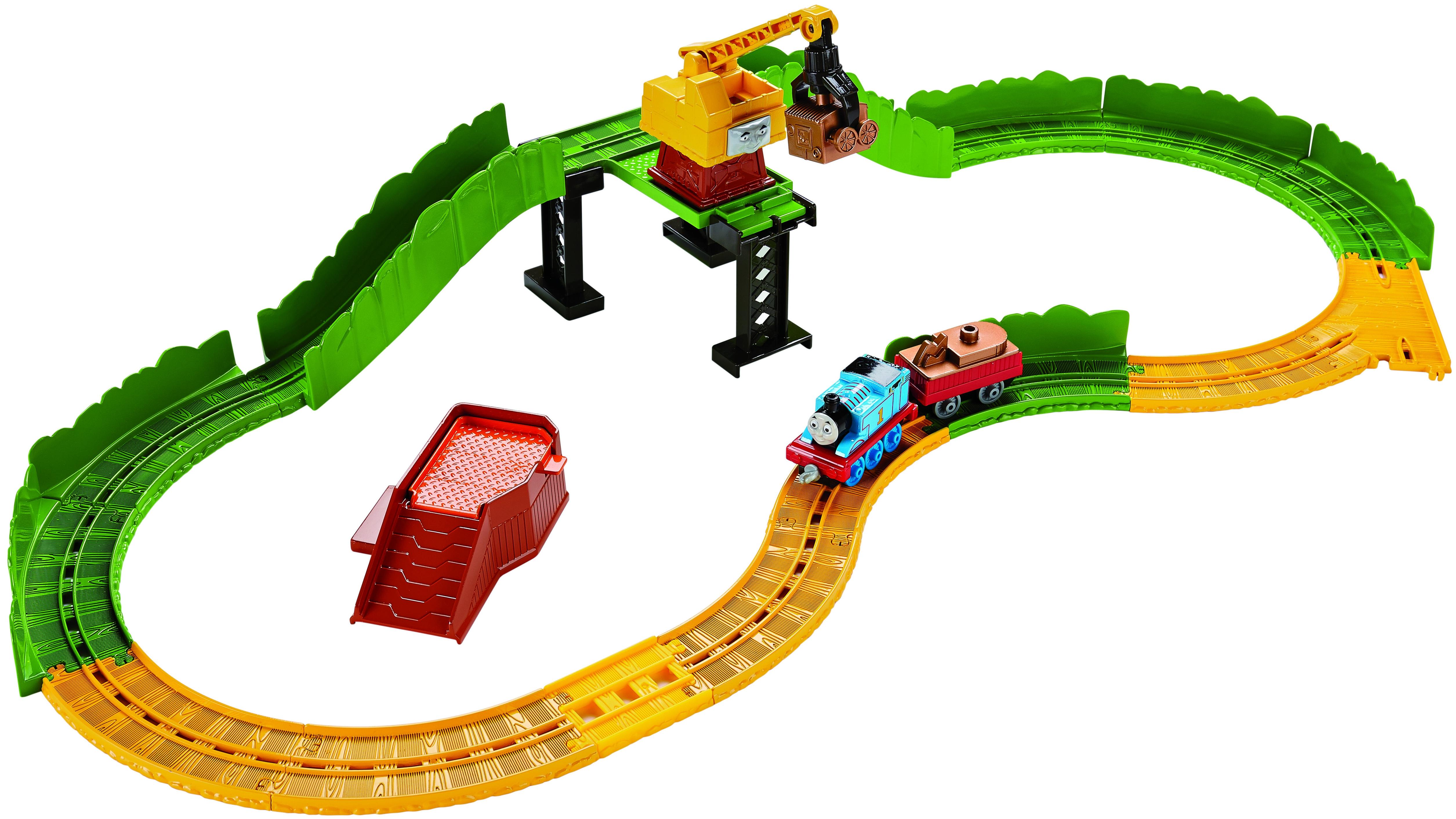 Игровой набор Fisher Price Подъемный кран железные дороги и паровозики big motors подъемный кран