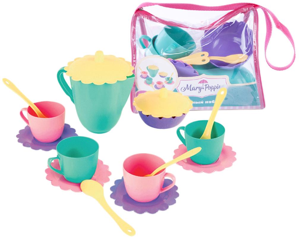 Чайный набор Наша игрушка Бабочка 16 предметов керамический ocean reef gongfu чай gaiwan с фильтром и крышкой два чашки чайный набор 3 шт