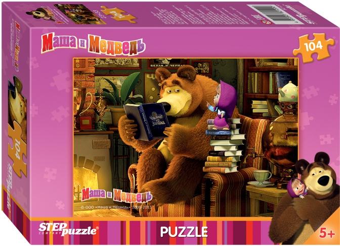 Пазл Step Puzzle «Маша и Медведь» 104 эл.