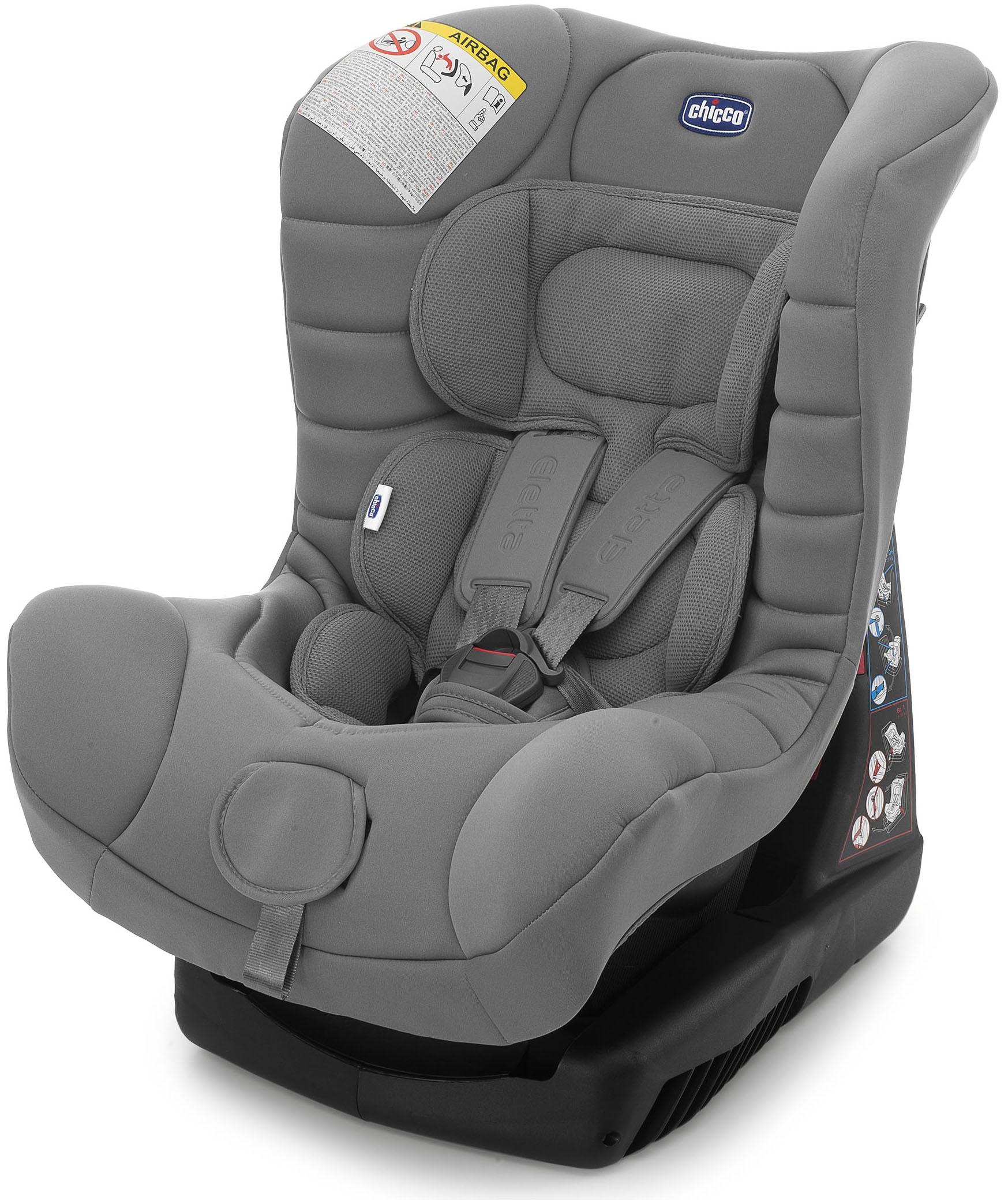 Автокресла группа 0+/1 (до 18 кг) CHICCO Автокресло Chicco «Eletta Comfort» 0-18 кг Grey автолюльки
