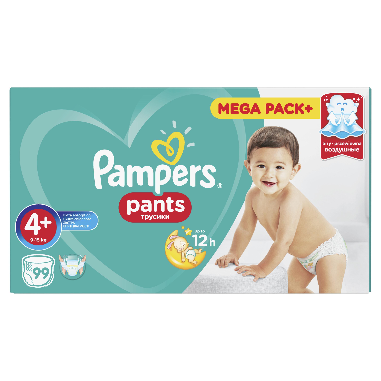 Трусики-подгузники Pampers Pants 4+ (9-15 кг) 99 шт. трусики pampers pants 4 8 14 кг 104 шт