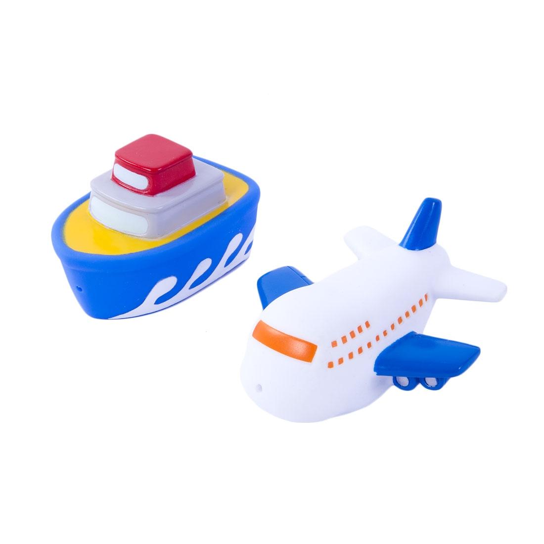 Игрушки для ванны Жирафики Набор для купания Жирафики «Самолёт и пароход» игрушки для ванны жирафики набор для купания черепашка и пингвин
