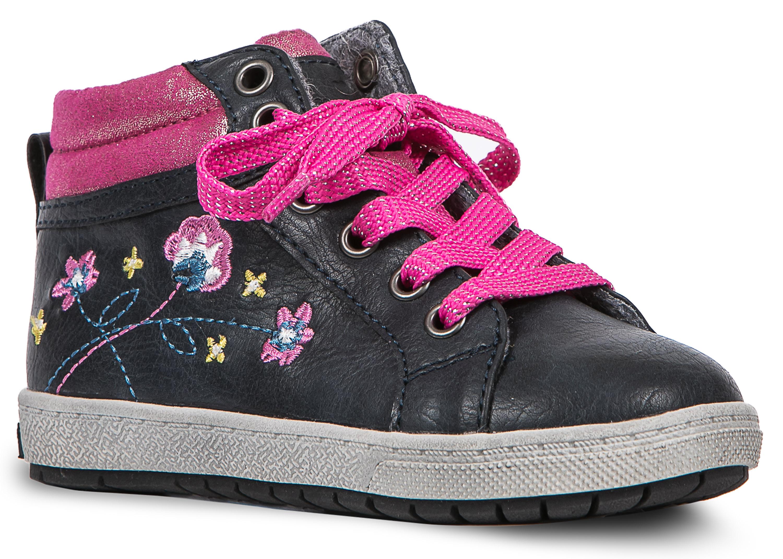 Купить Ботинки и полуботинки, Ботинки для девочки Barkito, сине-розовые, Китай, сине-розовый, Женский
