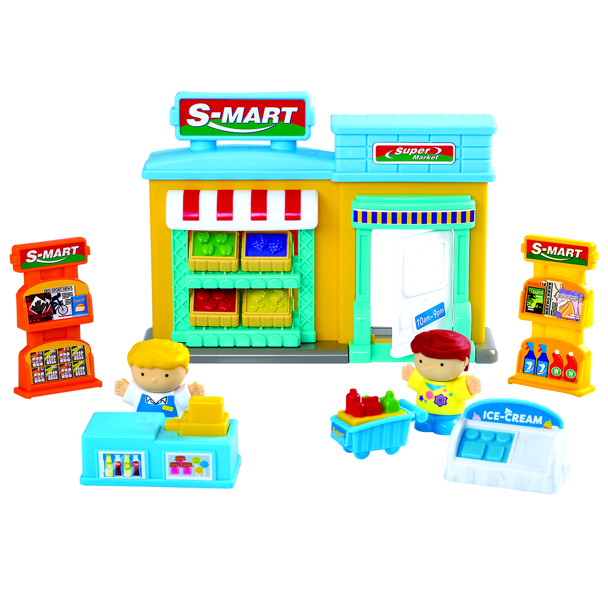 Игровой набор PLAYGO Супермаркет playgo набор с пластилином и аксессуарами в корзине 8750