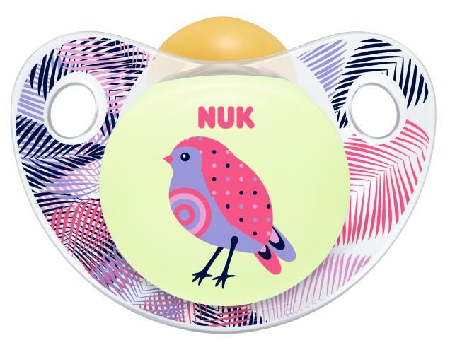 Пустышка NUK Night&Day из латекса 0+ для сна пустышка силиконовая для сна nuk freestyle