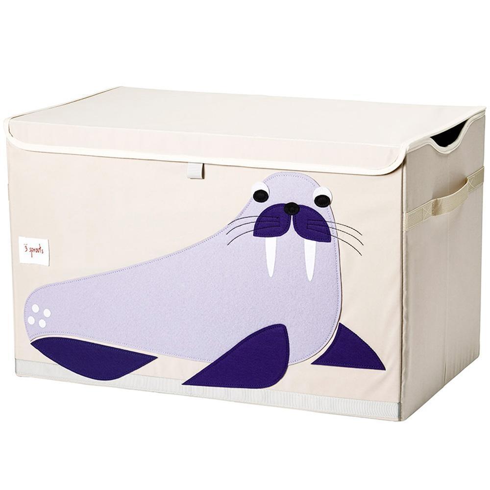 Ящики и корзины для игрушек 3 Sprouts Blue Walrus ящики и корзины для игрушек 3 sprouts orange orangutan