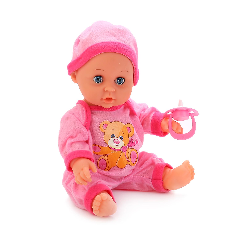 Пупсы Карапуз Интерактивная кукла Карапуз «Пупс» со стихами А. Барто 30 см в асс. карапуз кукла рапунцель со светящимся амулетом 37 см со звуком принцессы дисней карапуз