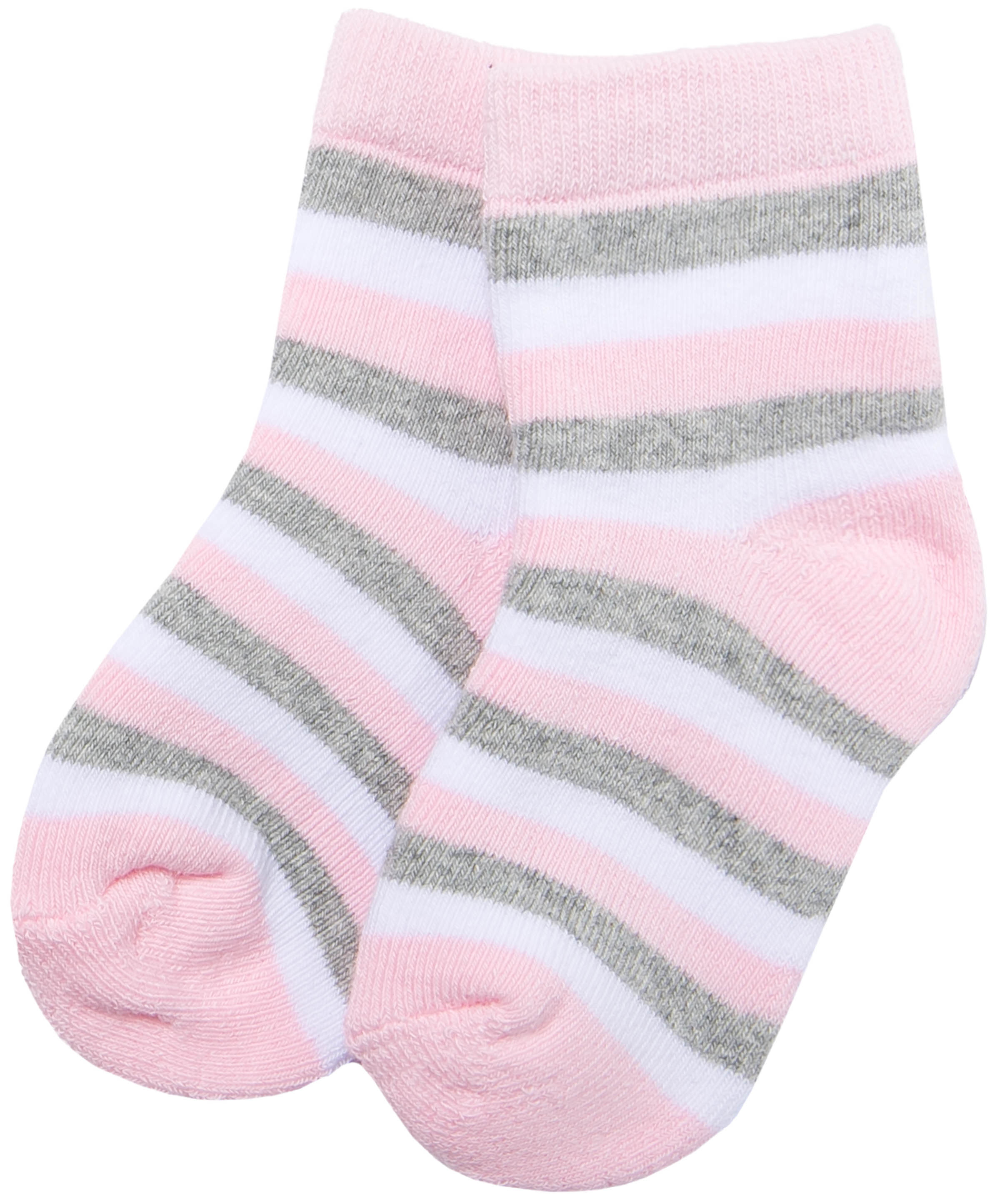 Купить Носки махровые для девочки Barkito, розовые с рисунком в полоску, Китай, розовый с рисунком в полоску, Женский