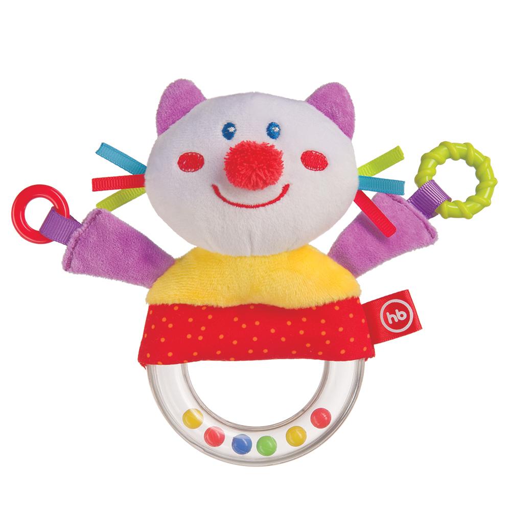 Погремушки Happy baby Погремушка-пищалка Happy Baby «Funny Kitty» happy baby погремушка пищалка funny hedgehog