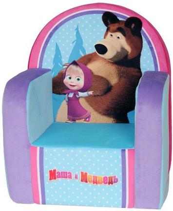 Мягкая мебель Маша и Медведь Маша и медведь смолтойс мягкое кресло скругленное маша и медведь смолтойс розовый