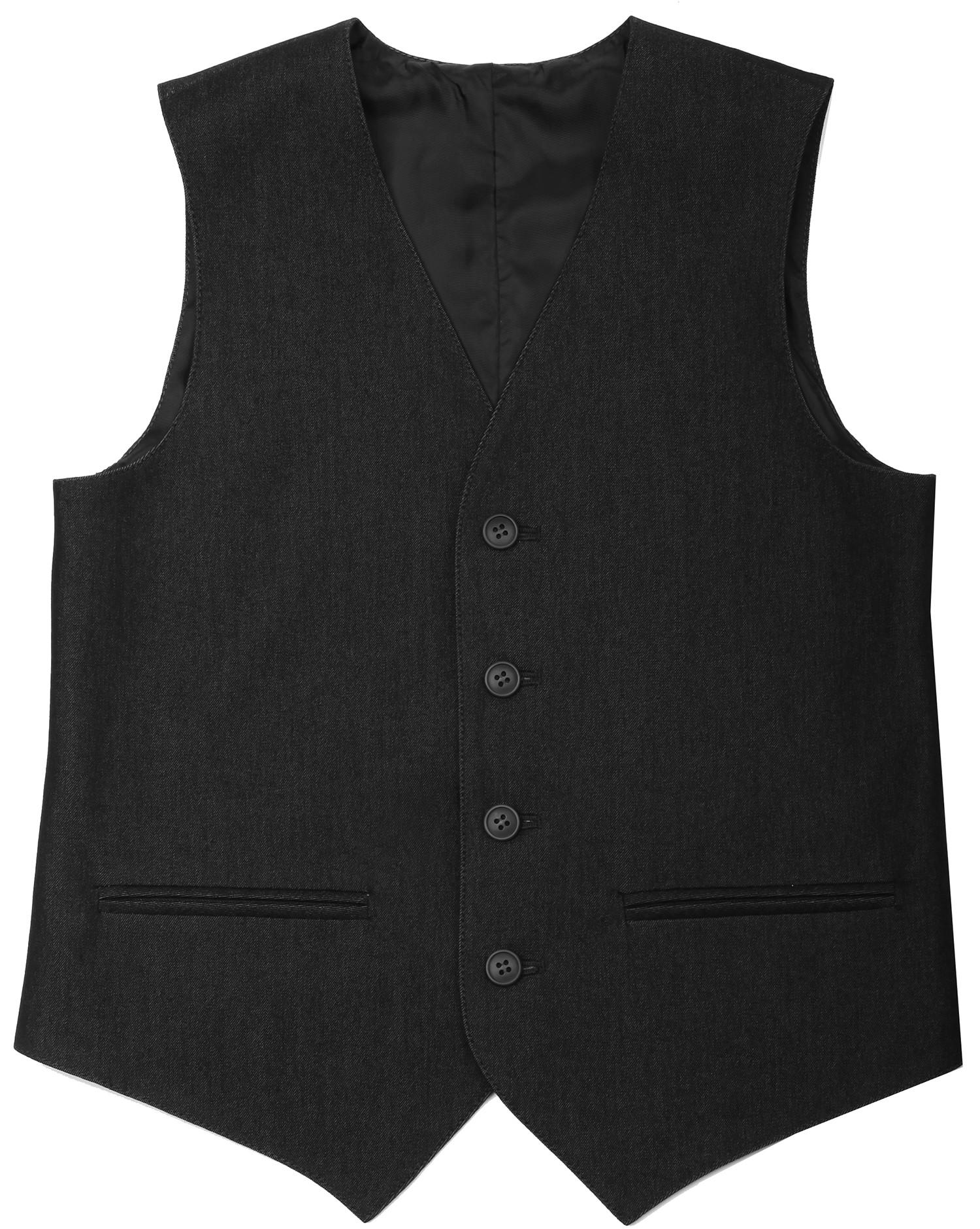 Форма для мальчиков VALMER Жилет для мальчика Valmer, черный модный жилет для мужчин no fear